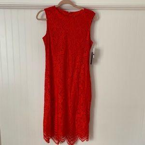 Red Sharagano dress, never worn!
